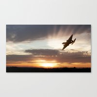 returns Canvas Prints featuring Canberra Returns by Airpower Art