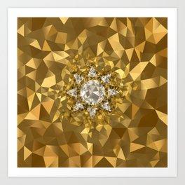 POLYNOID Sun / Gold Edition Art Print