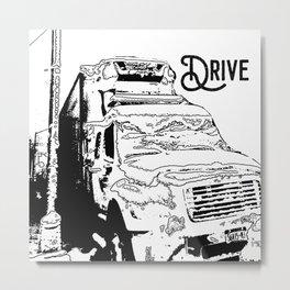 Truck Dirve Metal Print