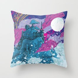 Unkown Place 01 - Budda temple Throw Pillow