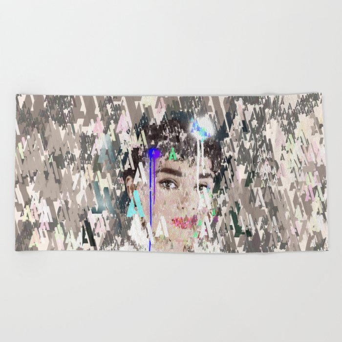 Audrey Type Abstract Art Beach Towel