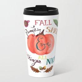 Pumpkin Spice Fall Metal Travel Mug