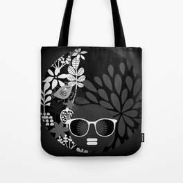 Afro Diva : Sophisticated Lady Black & White Tote Bag