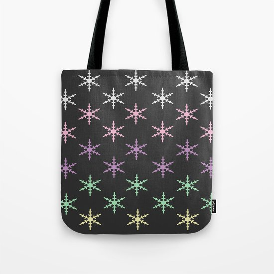 colorful snow pattern Tote Bag