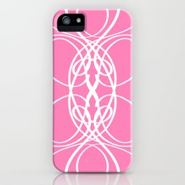 Pink White Swirl iPhone Case