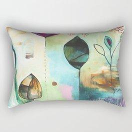 """""""Abundance"""" Original Painting by Flora Bowley  Rectangular Pillow"""
