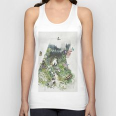Cat in the Garden of Your Mind Unisex Tank Top