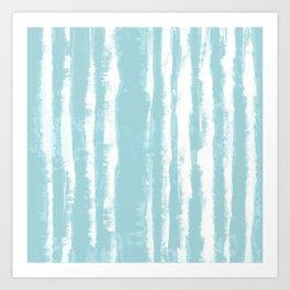 Shibori Stripe Seafoam Art Print