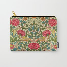 William Morris Roses Floral Textile Pattern Carry-All Pouch