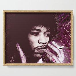 Jimi Hendrix Purple Haze Red Serving Tray