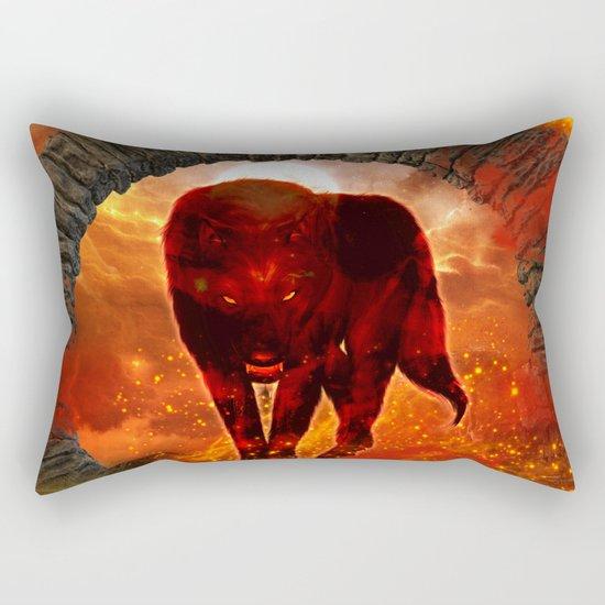 Amazing wolf Rectangular Pillow