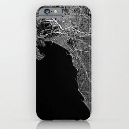 Melbourne Black Map iPhone Case