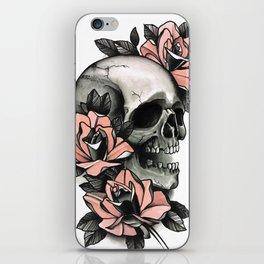 Skull and roses - tattoo iPhone Skin