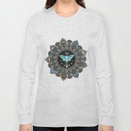 Lunar Moth Mandala Long Sleeve T-shirt