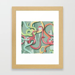 Snakes pattern 002 Framed Art Print