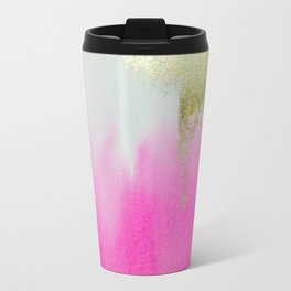 Pink Gold Waterfall Travel Mug
