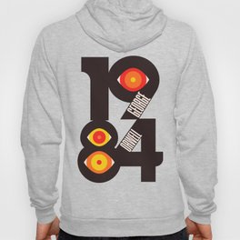 1984, George Orwell, Nineteen Eighty-Four, book cover, illustration, cult books,  Hoody