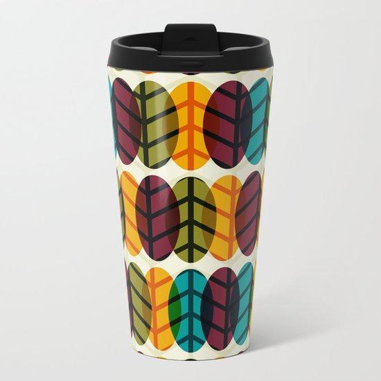 Optical Overlap #2 Metal Travel Mug