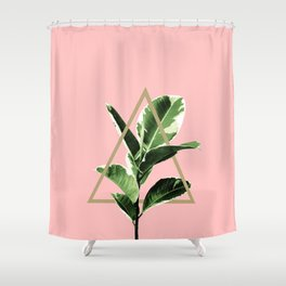 Ficus Elastica Geo Finesse #1 #tropical #foliage #decor #art #society6 Shower Curtain