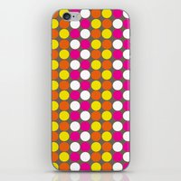 polka dots iPhone & iPod Skins featuring polka dots by nandita singh