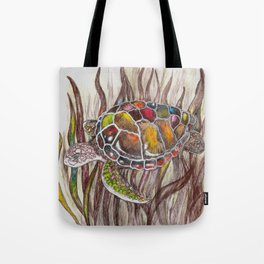 Tripping turtle Tote Bag