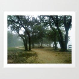 Foggy Day in Florida Art Print