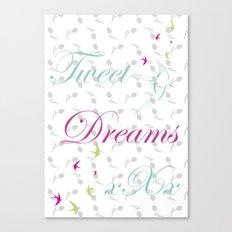 Tweet Dreams Canvas Print