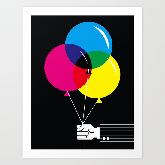 CMYK Balloon's  Art Print