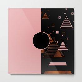 Modern Blush Christmas Metal Print