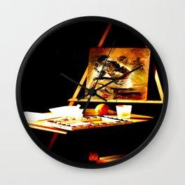 An Art Easel Wall Clock