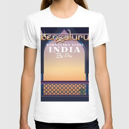 Bengaluru India travel poster T-shirt