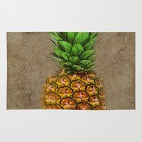 pineapple Area & Throw Rugs featuring Pineapple by Saundra Myles