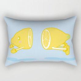 Catch the Half Lemon Rectangular Pillow