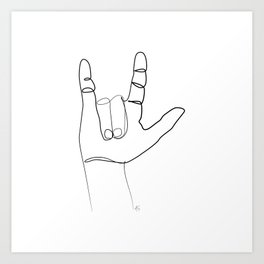 """ Love Collection "" - I Love You In Sign Language Kunstdrucke"