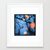 fireflies Framed Art Prints featuring Fireflies by Den Brooks