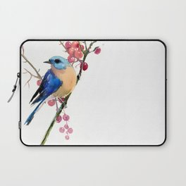 Bluebird and Berries Laptop Sleeve