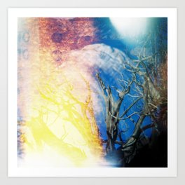 Joshua Tree On Fire Art Print