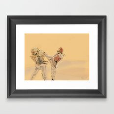 Tae Kwon Do Head Kick Framed Art Print