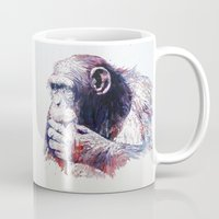monkey island Mugs featuring Monkey by Cristian Blanxer