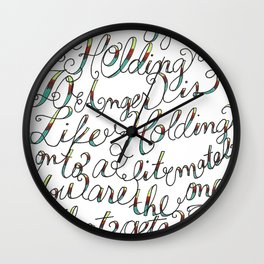 The Art of Letting Go Wall Clock