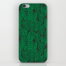 Elephant Ear house plant tropical garden green minimal pattern iPhone & iPod Skin