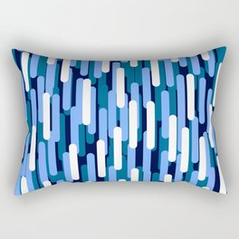 Fast Capsules Vertical Blue Rectangular Pillow