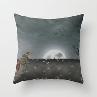 i want to believe Throw Pillows featuring I Want To Believe by Conceptualized