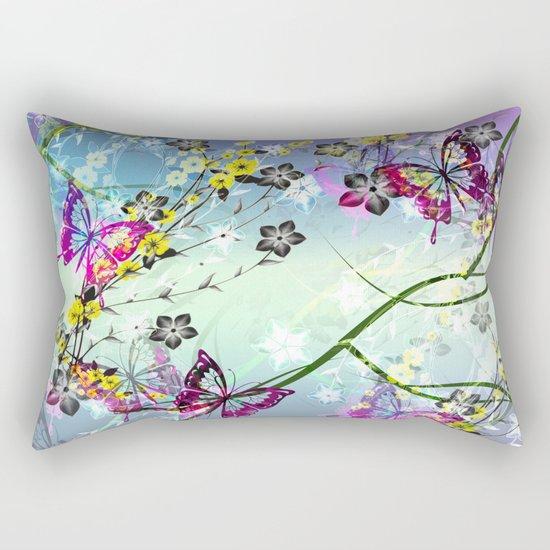 Floral Fantasy Rectangular Pillow