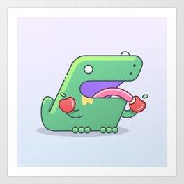 Fruitarian T-Rex Art Print