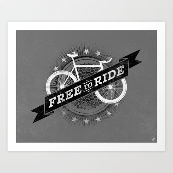 Free To Ride Art Print