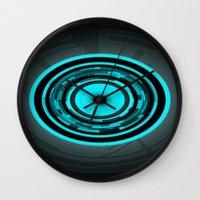 tron Wall Clocks featuring Tron by Jason Michael