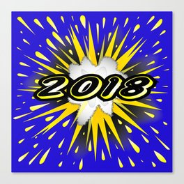 2018 Cartoon Bubble Canvas Print