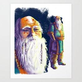 Space Monk Art Print