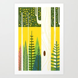 Joyful Trees Art Print